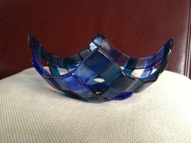 First home-studio made glass bowl